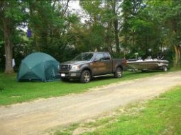 Tent sites, boats are welcome